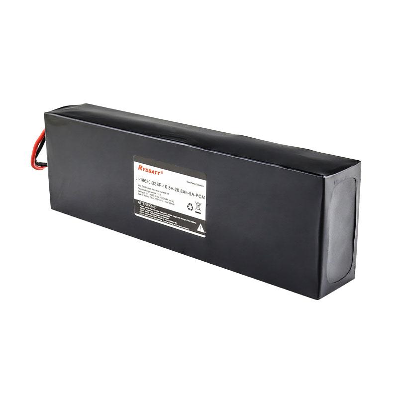 18650动力锂电池pack 3S8P 10.8V 20A 大容量储能设备电池