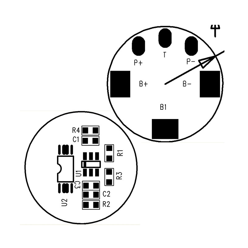 RYD-02S-012/V1.0版 3C数码产品锂电池保护板
