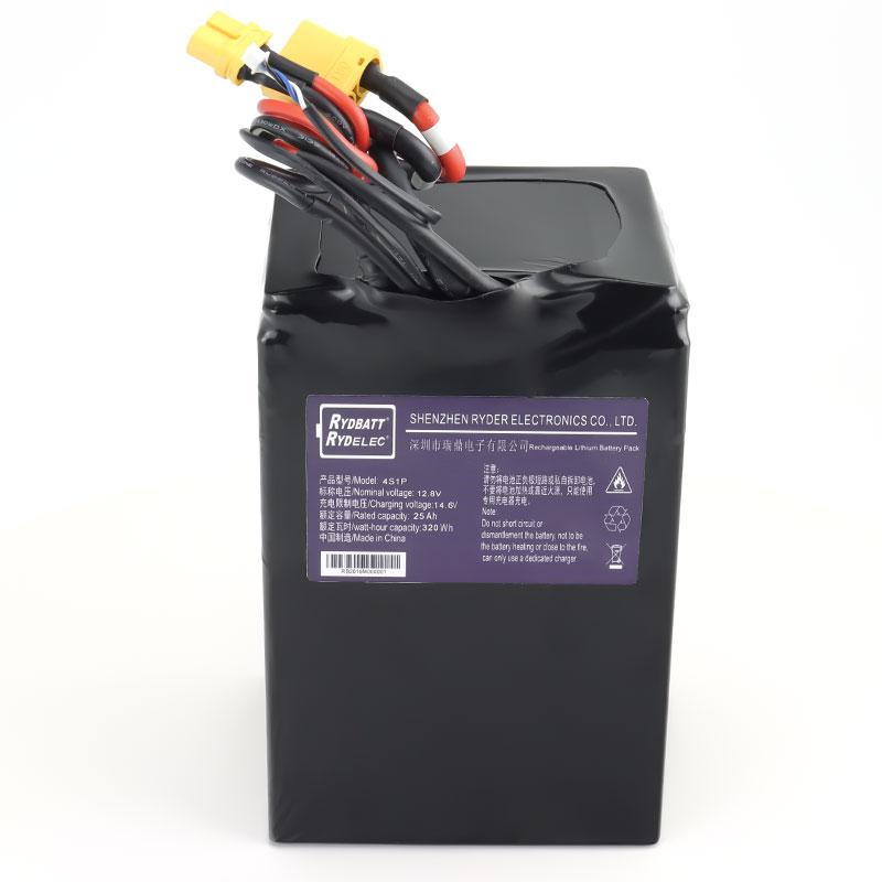 12V便携式储能电池组PACK 带SMBus协议 12.8V25Ah 4串1并