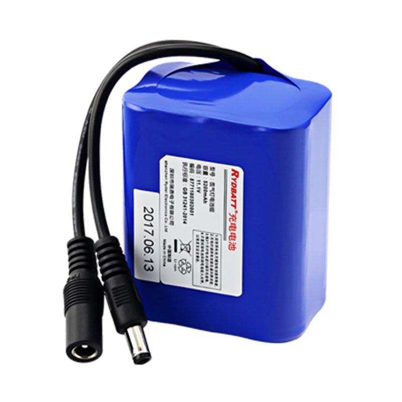 钓鱼灯外卖摊电用锂电池 12V5.2Ah18650防爆锂电池组