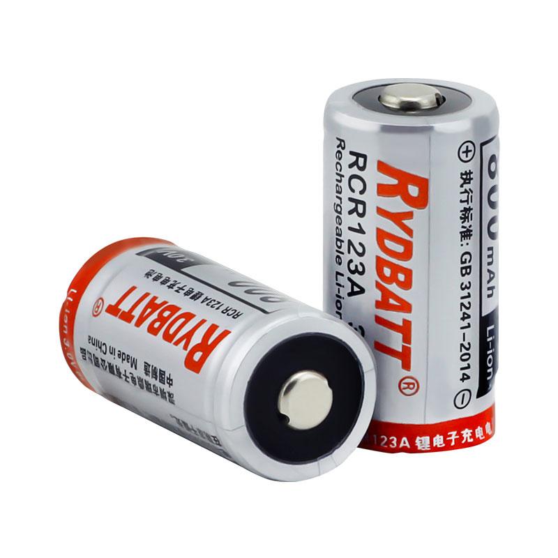 RCR123A新型将压锂电池3V激光笔闪光灯电池