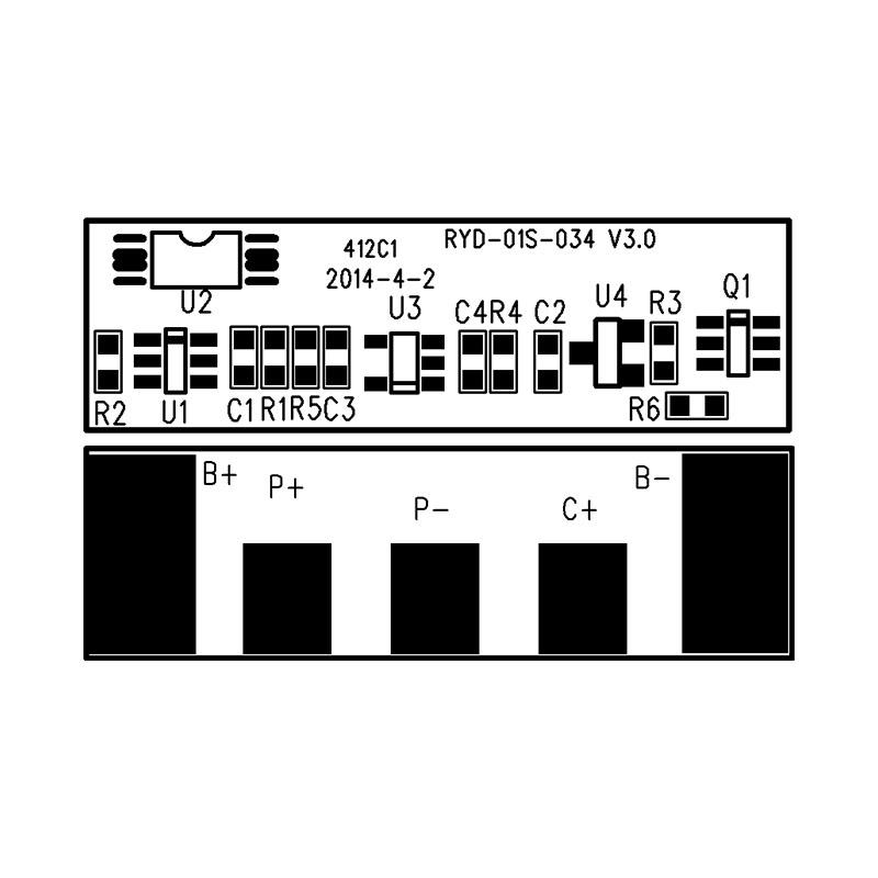 RYD-01S-034/V3.0版 单体18650锂电池电池保护板 BMS线路