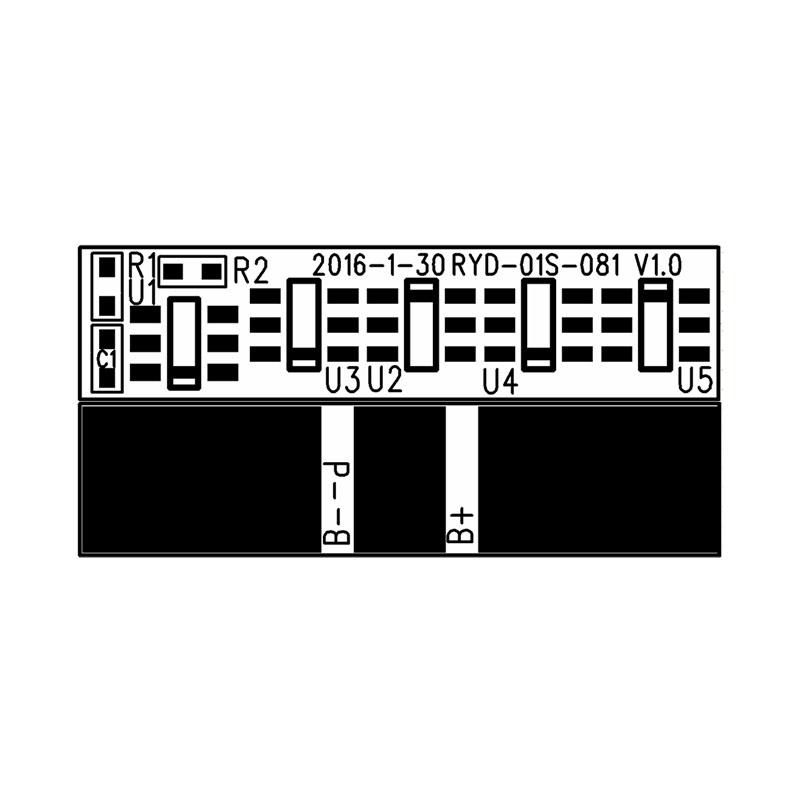 RYD-01S-081/V1.0版 单串18650锂电池保护板 BMS过充过放