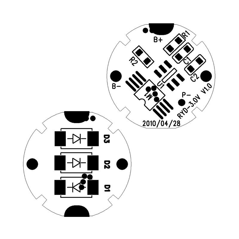 RYD-3.0V V1.0 RCR123A 3.7V降压3.0V 新型锂电