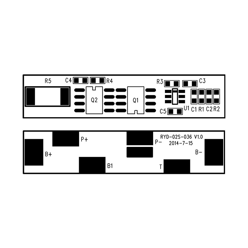 RYD-02S-036/V1.0版 3C数码产品锂电池保护板