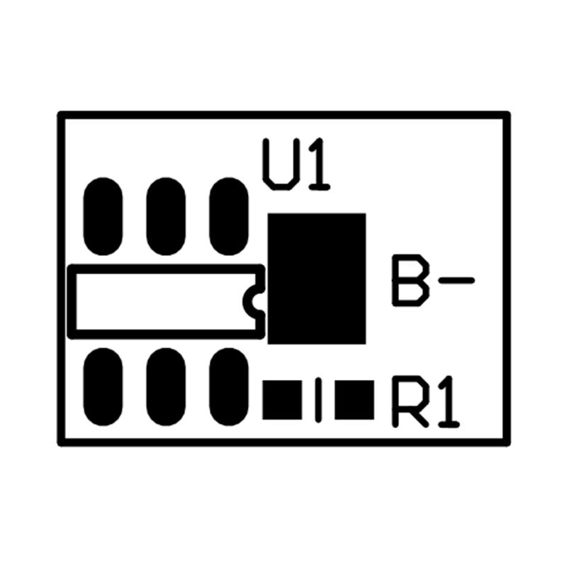 RYD-01S-149 3.7V 1-3A单串锂电池保护板 带NTC