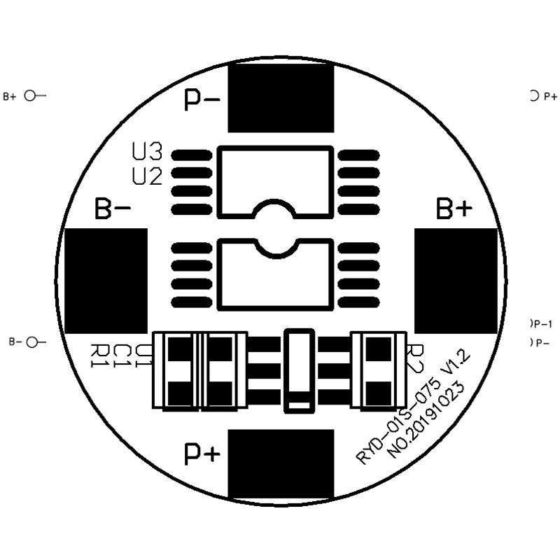 RYD-01S-075 3.7V 3.5/6.5A 18650锂电池保护板 BMS线路板