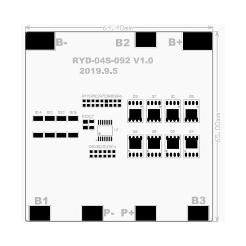 RYD-04S-092 14.8V 3/20A 4串锂离子电池BMS保护板