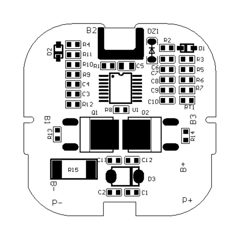 RYD-04S-084 14.4V 5/20A 带温控机器人锂电池智能BMS保